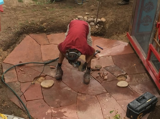 Working with a wet saw