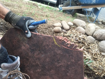 Notching the stone for eggs